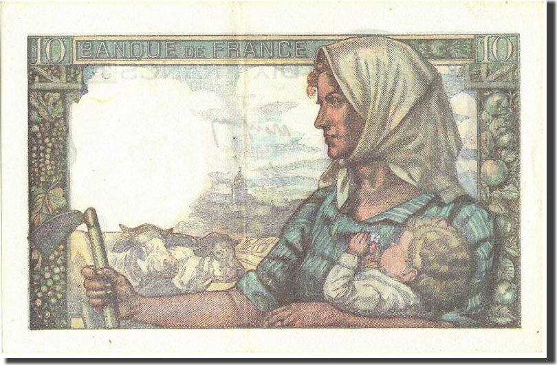 10 Francs 1947 Frankreich 10 F 1941-1949 ''Mineur'', KM:99f, 1947-12-04, V... VZ+