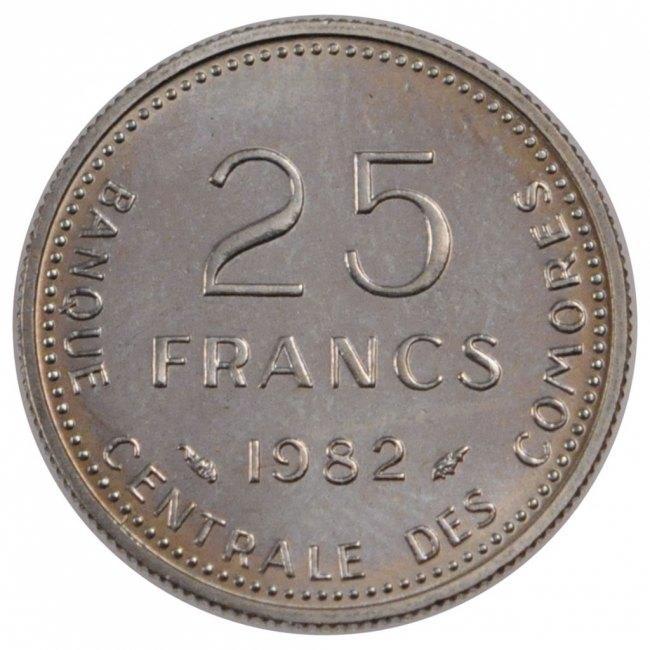 25 Francs 1982 (a) Comoros MS(65-70)