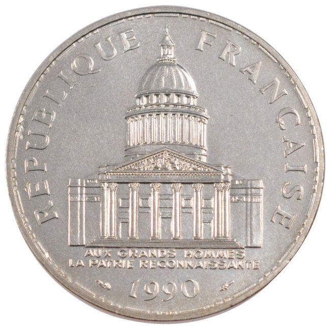 100 Francs 1990 Paris Frankreich Panthéon MS(60-62)