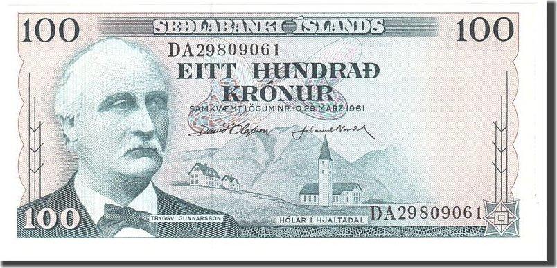 100 Kronur 1961 Iceland UNC(65-70)