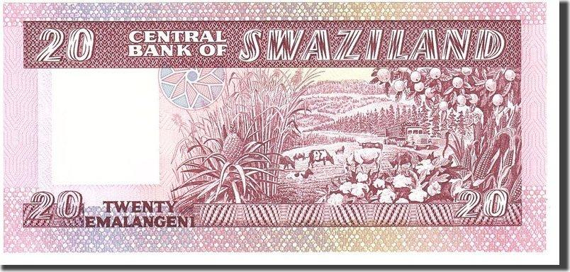 20 Emalangeni 1985 Swaziland UNC(65-70)