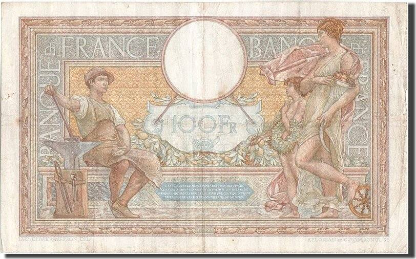 100 Francs 1937 Frankreich 100 F 1908-1939 ''Luc Olivier Merson'', KM:86a,... S