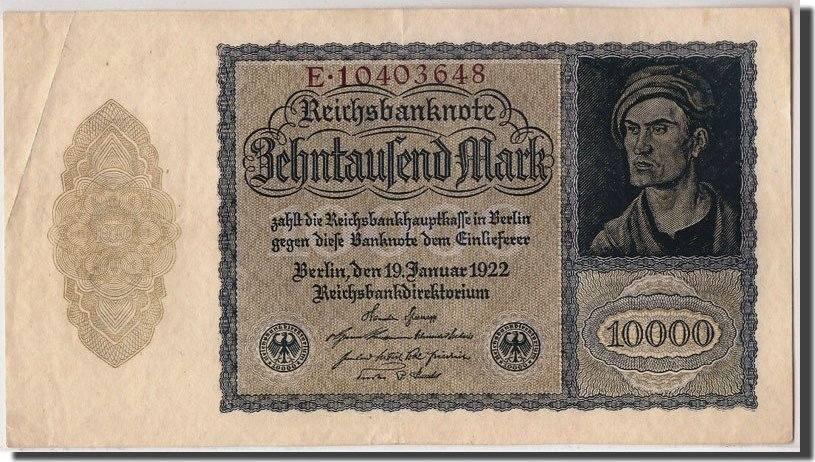 10,000 Mark 1922 Deutschland KM:71, 1922-01-19, SS SS