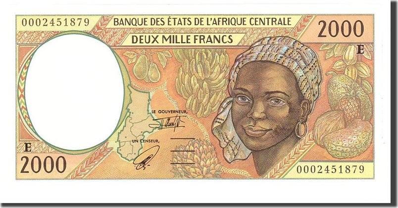 2000 Francs 2000 Zentralafrikanische Staaten UNC(65-70)