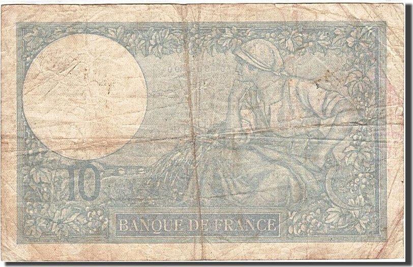 10 Francs 1915 Frankreich KM:73e, 1937-02-25, S, Fayette:6.18 S