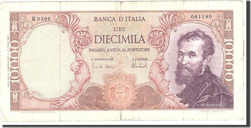10,000 Lire 1973 Italien KM:97f, 1973-02-15, S S
