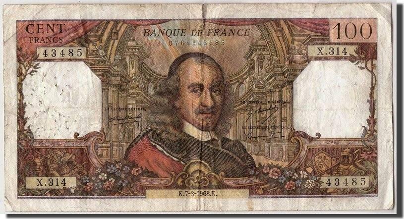 100 Francs 1968 Frankreich VF(20-25)