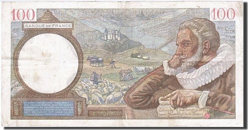 100 Francs 1939 Frankreich AU(50-53)
