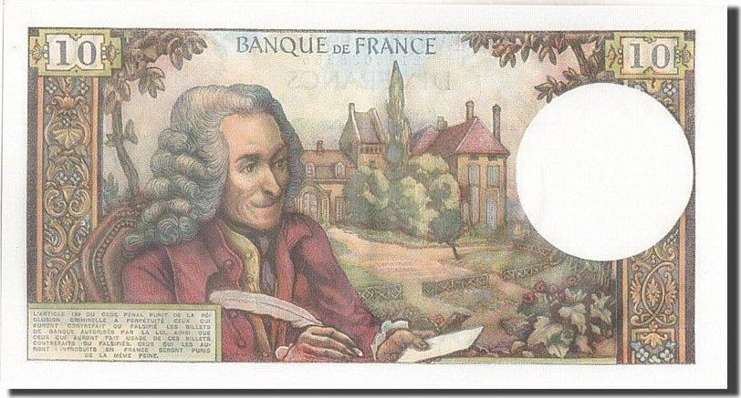 10 Francs 1973 Frankreich 10 F 1963-1973 ''Voltaire'', KM:147d, 1973-04-05... UNZ