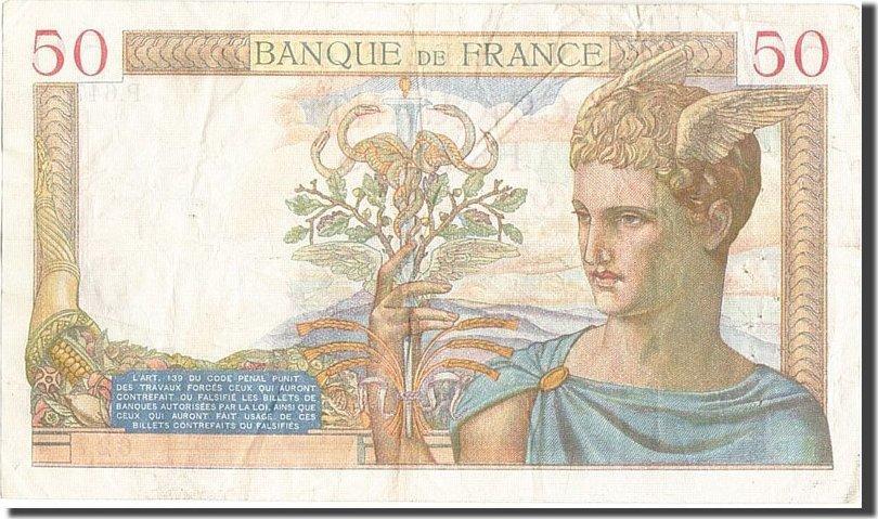 50 Francs 1935 Frankreich VF(30-35)