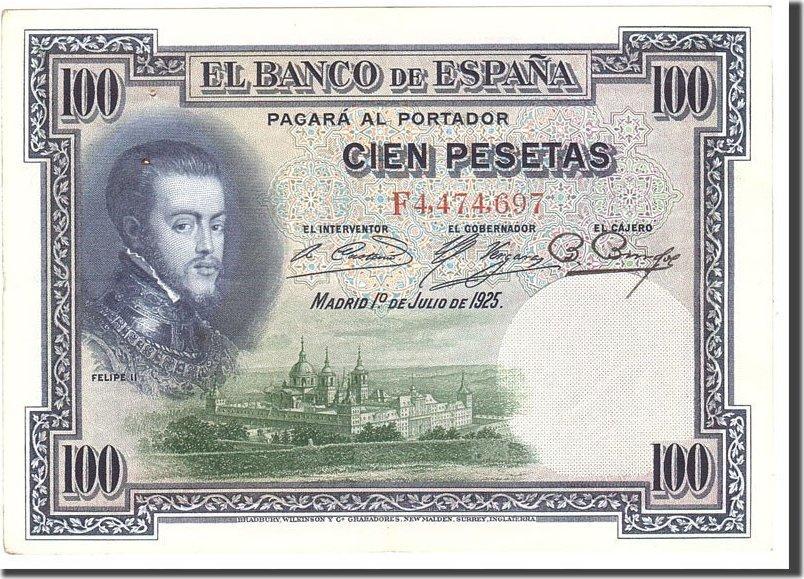 100 Pesetas 1925 Spanien AU(50-53)