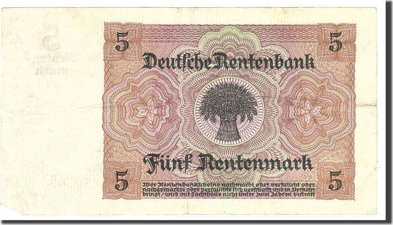 5 Rentenmark 1926 Deutschland VF(20-25)