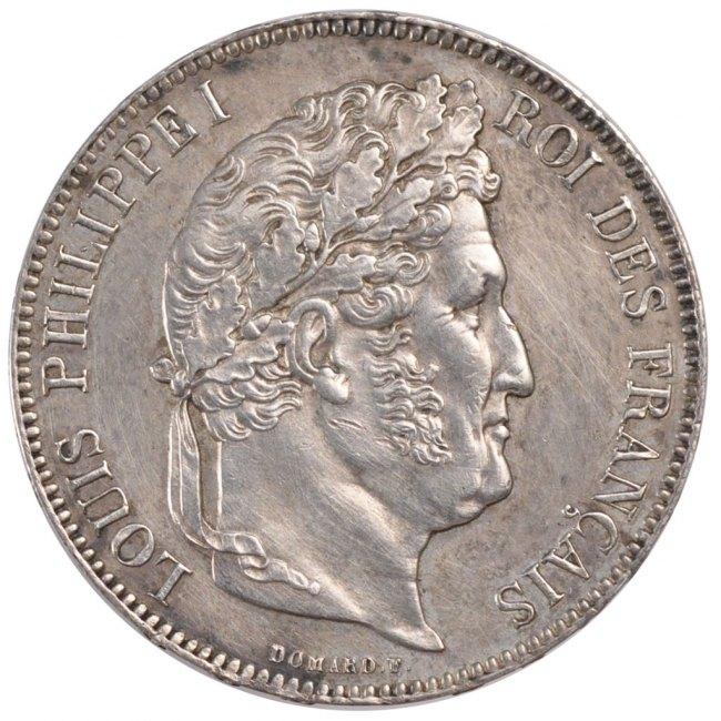 5 Francs 1839 B Frankreich Louis-Philippe AU(55-58)