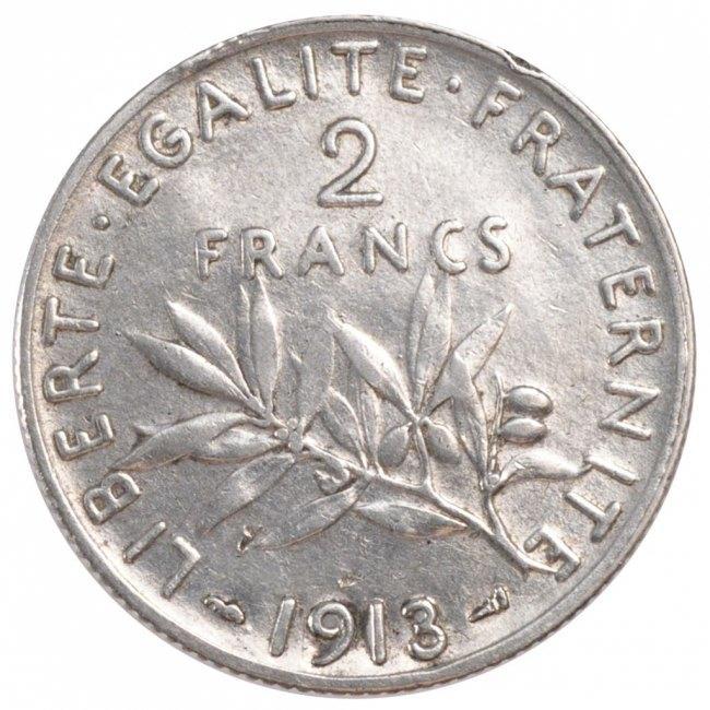 2 Francs 1913 Frankreich Semeuse EF(40-45)