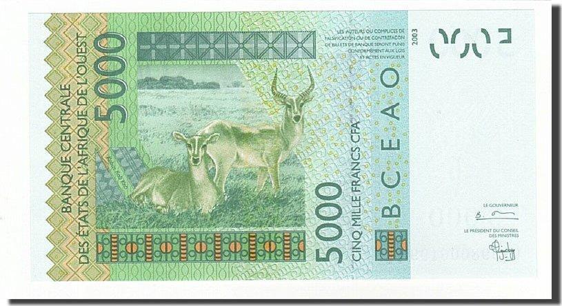 5000 Francs 2003 West African States UNC(65-70)