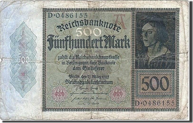 500 Mark 1922 Deutschland VF(20-25)
