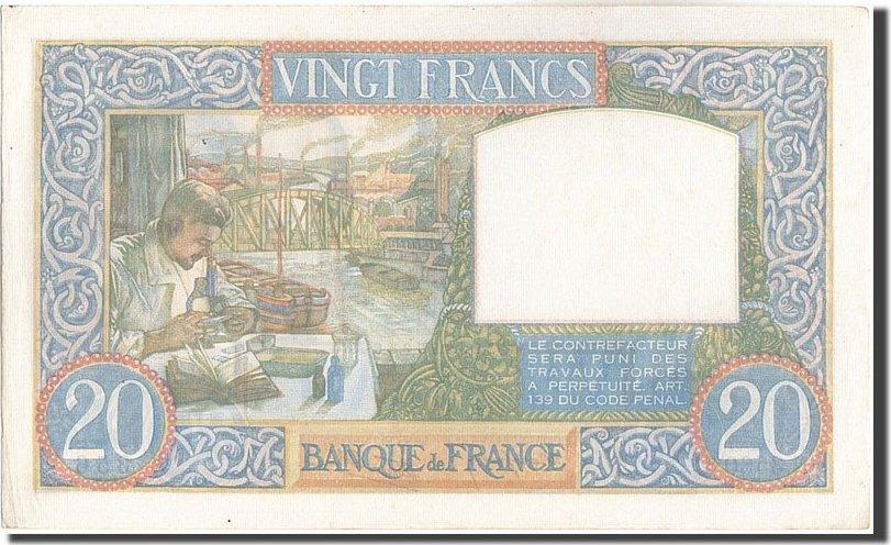 20 Francs 1941 Frankreich 20 F 1939-1942 ''Science et Travail'', KM:92b, 1... VZ