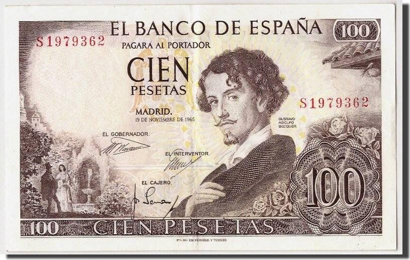 100 Pesetas 1965 Spanien AU(50-53)