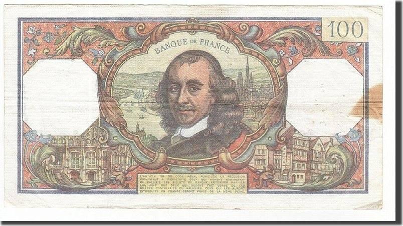 100 Francs 1977 Frankreich VF(30-35)