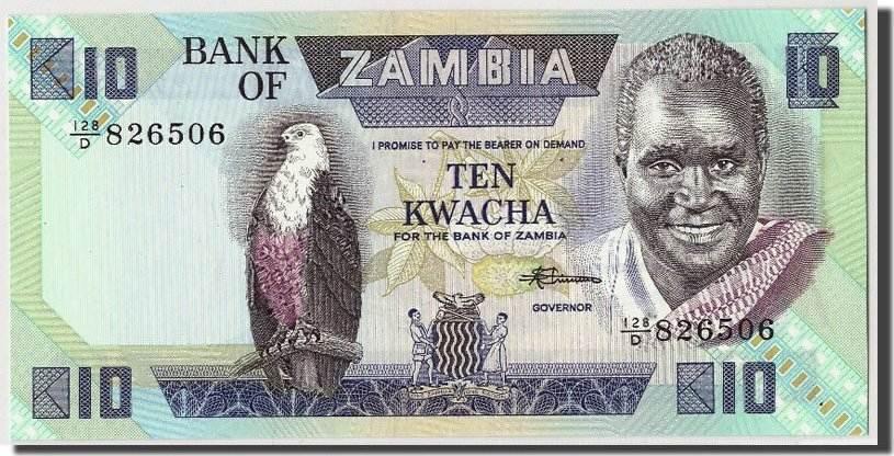 10 Kwacha Undated (1980-88) Sambia UNC(65-70)