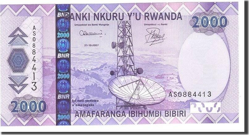 2000 Francs 2007 Ruanda UNC(65-70)