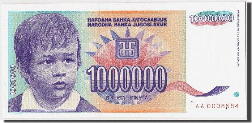 1,000,000 Dinara 1993 Jugoslawien UNC(65-70)