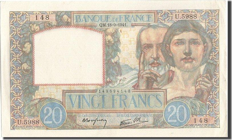 20 Francs 1941 Frankreich UNC(60-62)