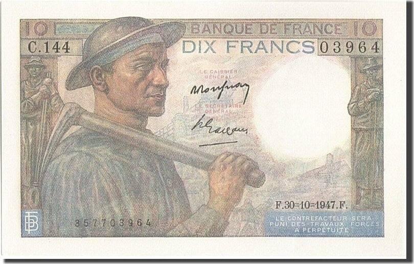 10 Francs 1947 Frankreich UNC(64)