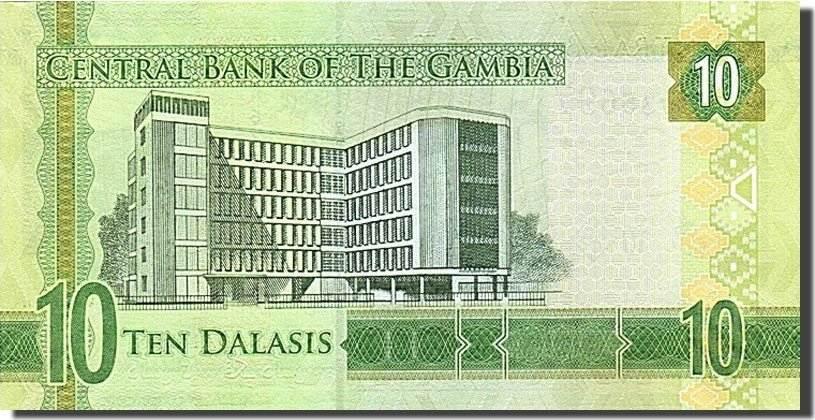 10 Dalasis 2015 Gambia 2015, UNZ UNZ