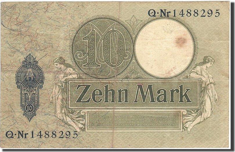 10 Mark 1904-1906 Deutschland KM:9b, 1906-10-06, SS SS