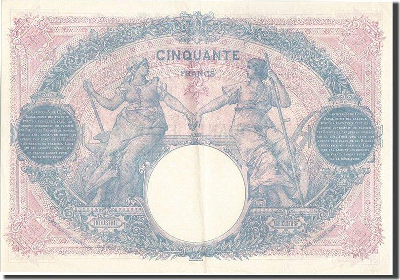 50 Francs 1919 Frankreich AU(55-58)