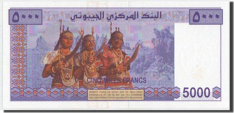 5000 Francs 2002 Dschibuti UNC(65-70)