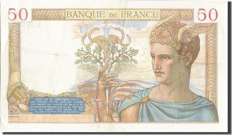 50 Francs 1935 Frankreich AU(50-53)