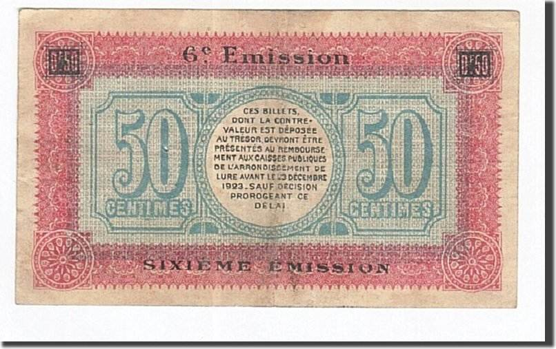 50 Centimes 1920 Frankreich Lure, SS, Pirot:76-36 SS