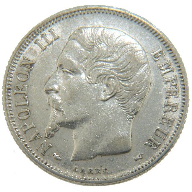 Franc 1854 A Frankreich Napoléon III Napoleon III AU(50-53)