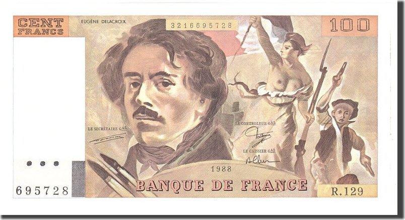 100 Francs 1988 Frankreich UNC(63)