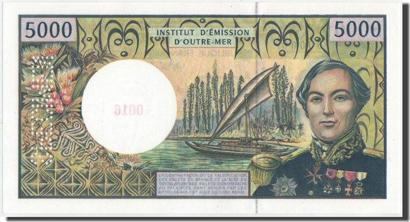 5000 Francs 1995 French Pacific Territories UNC(65-70)