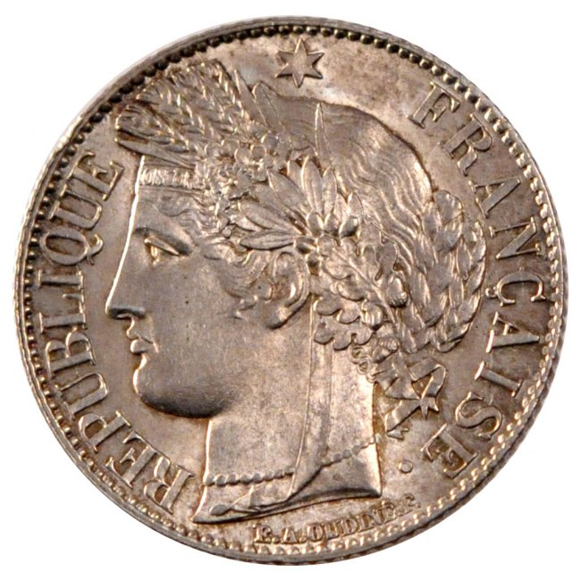 Franc 1887 A Frankreich Cérès MS(60-62)