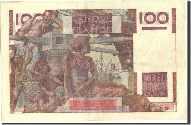 100 Francs 1953 Frankreich 100 F 1945-1954 ''Jeune Paysan'', KM:128d, 1953... SS+
