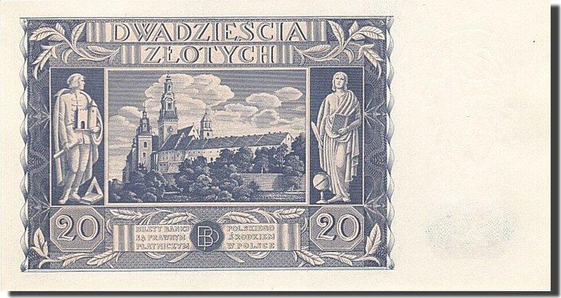 20 Zlotych 1936 Polen KM:77, 1936-11-11, UNZ- UNZ-