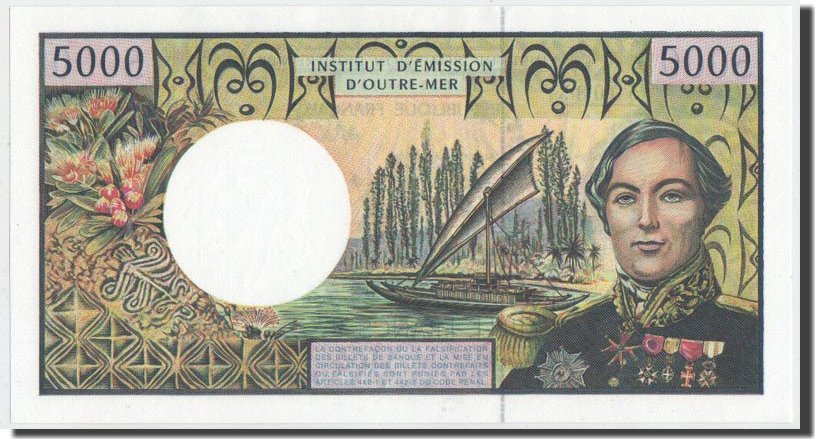 5000 Francs 2003 French Pacific Territories UNC(65-70)