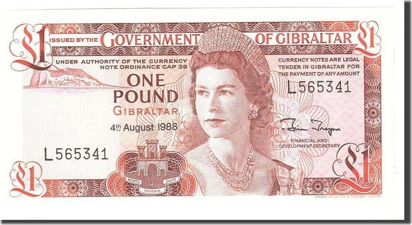 1 Pound 1988 Gibraltar UNC(65-70)