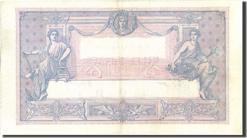 1000 Francs 1924 Frankreich 1 000 F 1889-1926 ''Bleu et Rose'', KM:67j, 19... SS
