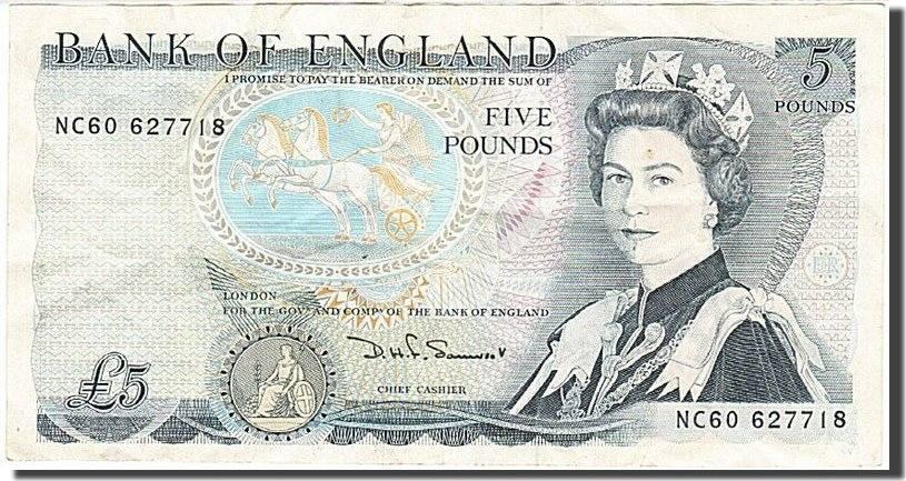 5 Pounds 1971-1982 Großbritannien AU(50-53)