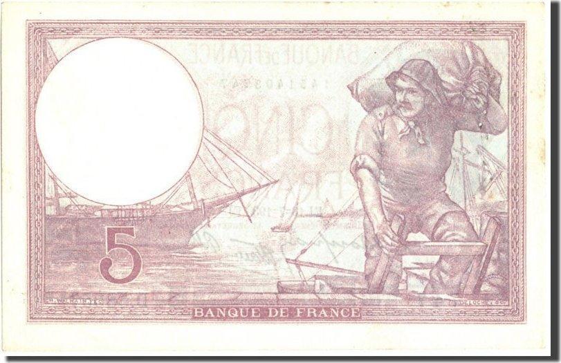 5 Francs 1939 Frankreich 5 F 1917-1940 ''Violet'', KM:83, 1939-07-13, VZ,... VZ