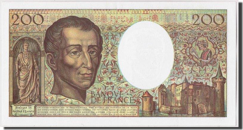 200 Francs 1994 Frankreich AU(55-58)
