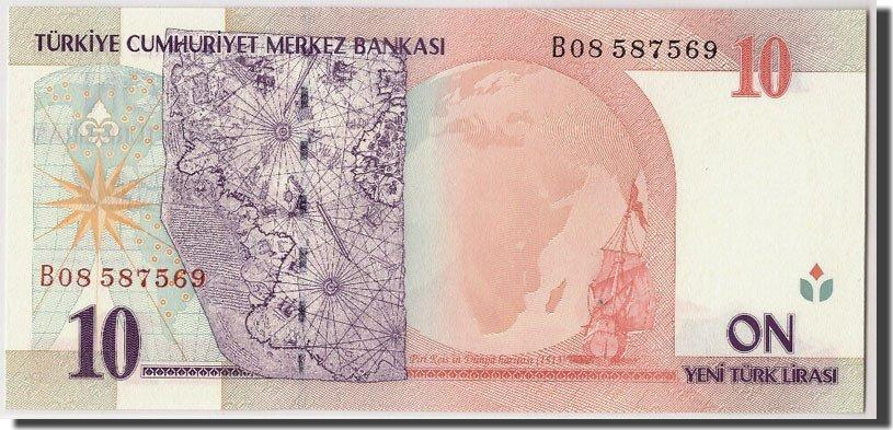 10 New Lira 2005 Türkei Undated, KM:218 UNC(65-70)