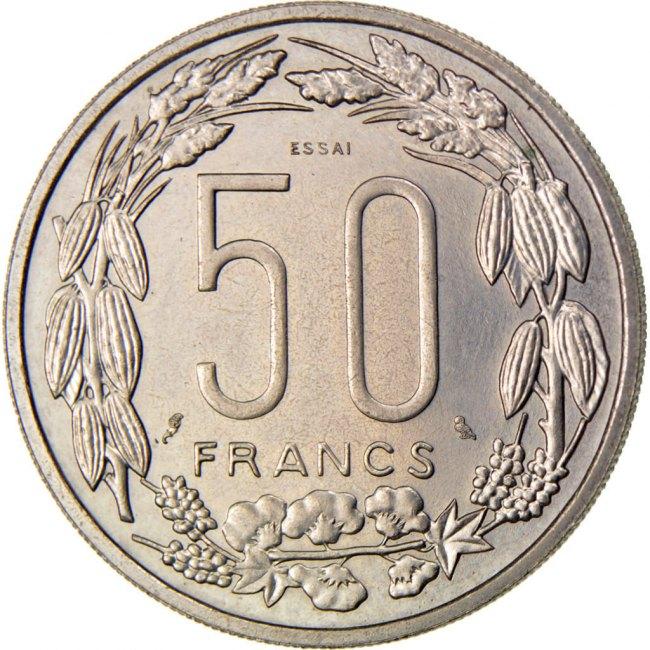 50 Francs 1961 (a) Äquatorial Afrikanische Staaten MS(60-62)