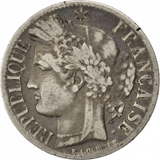 Franc 1849 A Frankreich Cérès VF(30-35)