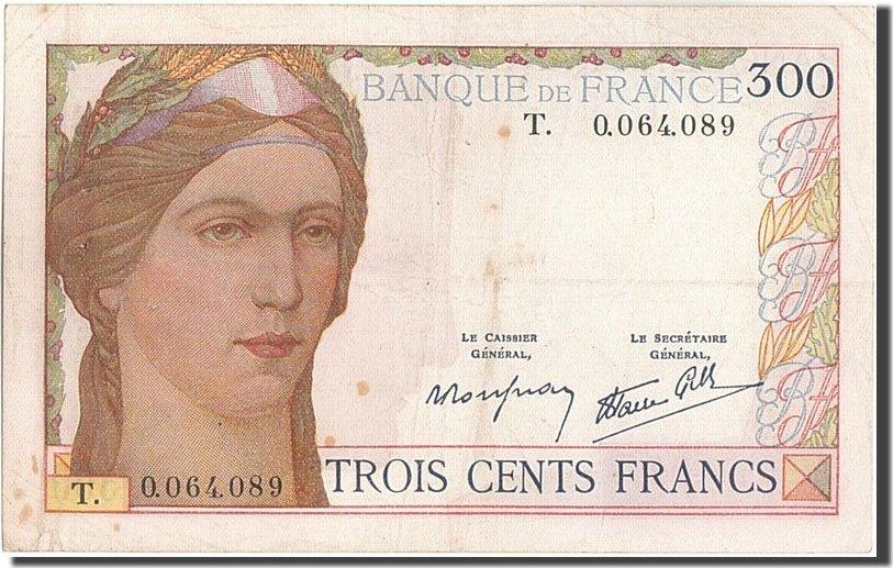 300 Francs 1938 Frankreich EF(40-45)